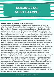 nursing case study example